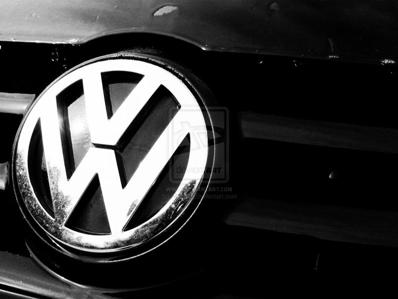 Volkswagen Logo Wallpaper Black 1280x960