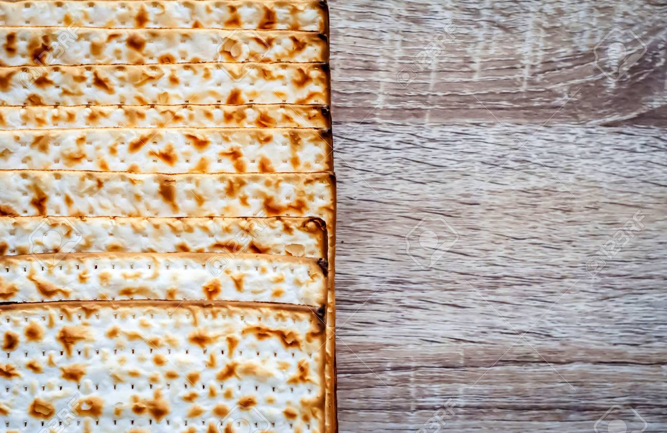 Traditional Jewish Matzah Unleavened Bread With A Vintage 1300x844
