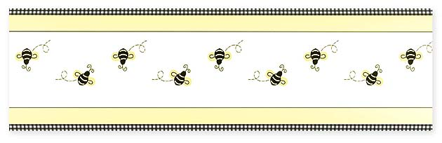 bumble bee wallpaper border retail price 32 39 your price 17 99 630x204
