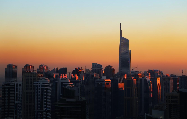 Wallpaper Sunset The city House Building City House Dubai 1332x850
