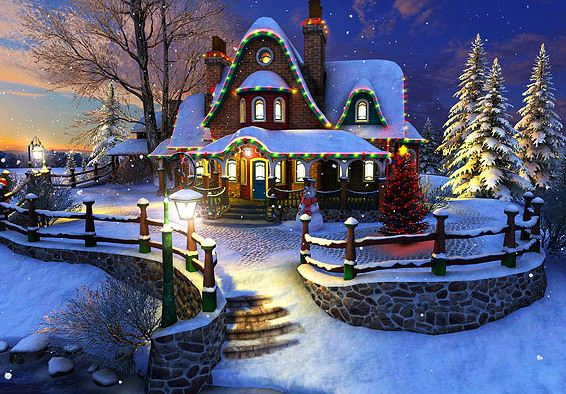Giveaway] White Christmas 3D Screensaver and Animated Wallpaper 566x394