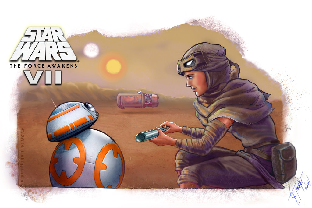 Reys Droid 3   Star Wars The Force Awakens by shadwwithouttheo on 1024x683
