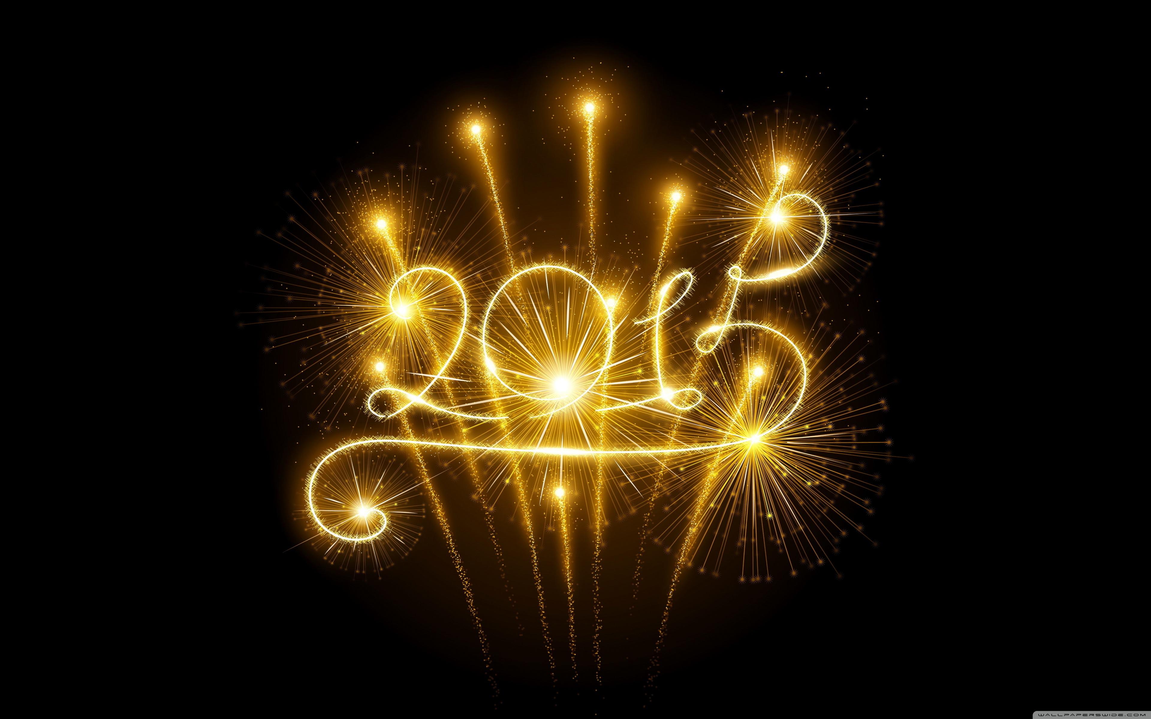 Happy New Year 2015 Fireworks 4K HD Desktop Wallpaper for 4K 3840x2400