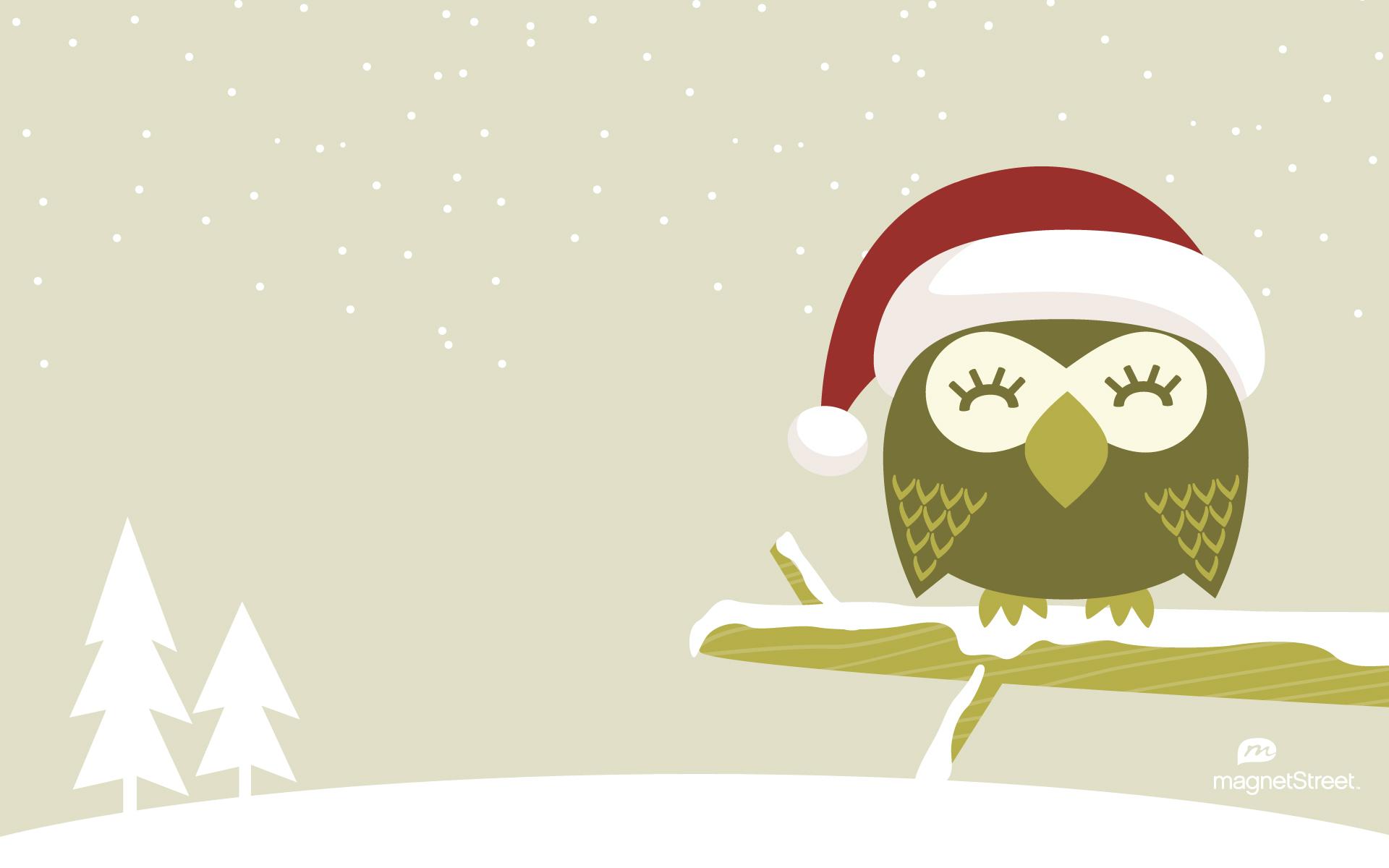 Freebie Friday Christmas Owl WallpaperTruly Engaging Wedding Blog 1920x1200
