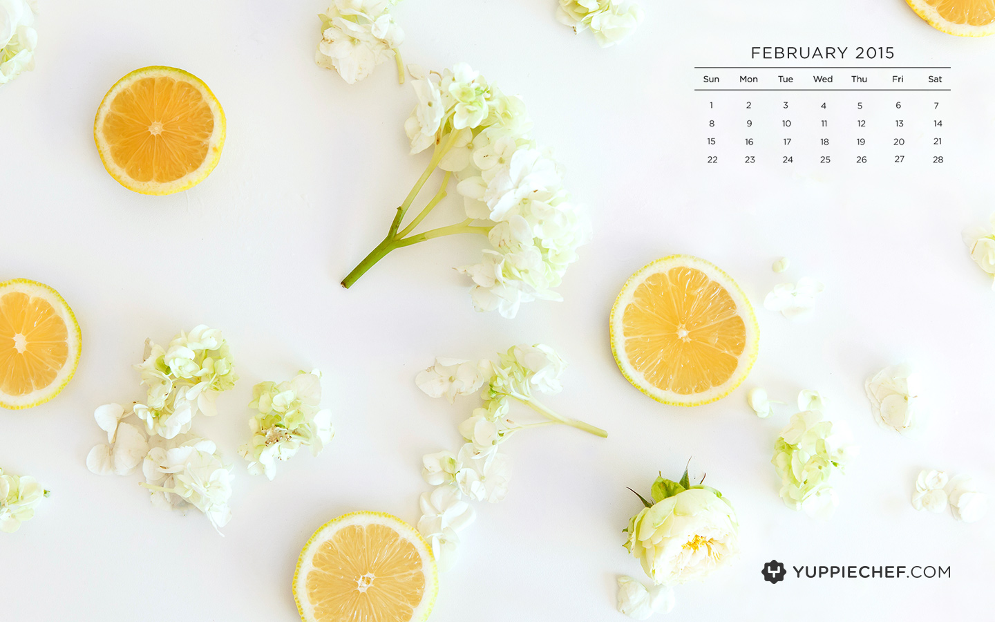 Februarys wallpaper a citrus squeeze for your screen 1440x900