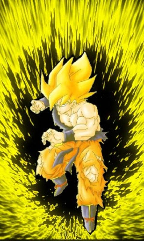 Back Gallery For Super Saiyan Goku Iphone Wallpaper 480x800