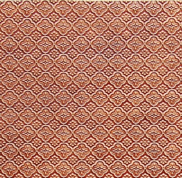 Backsplash Roll   PVC   1 14 Pattern   Antique Copper  wallpaper 640x626