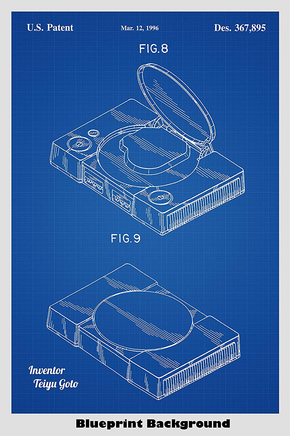 Amazoncom Sony Playstation Video Game System Poster Patent Print 1000x1500