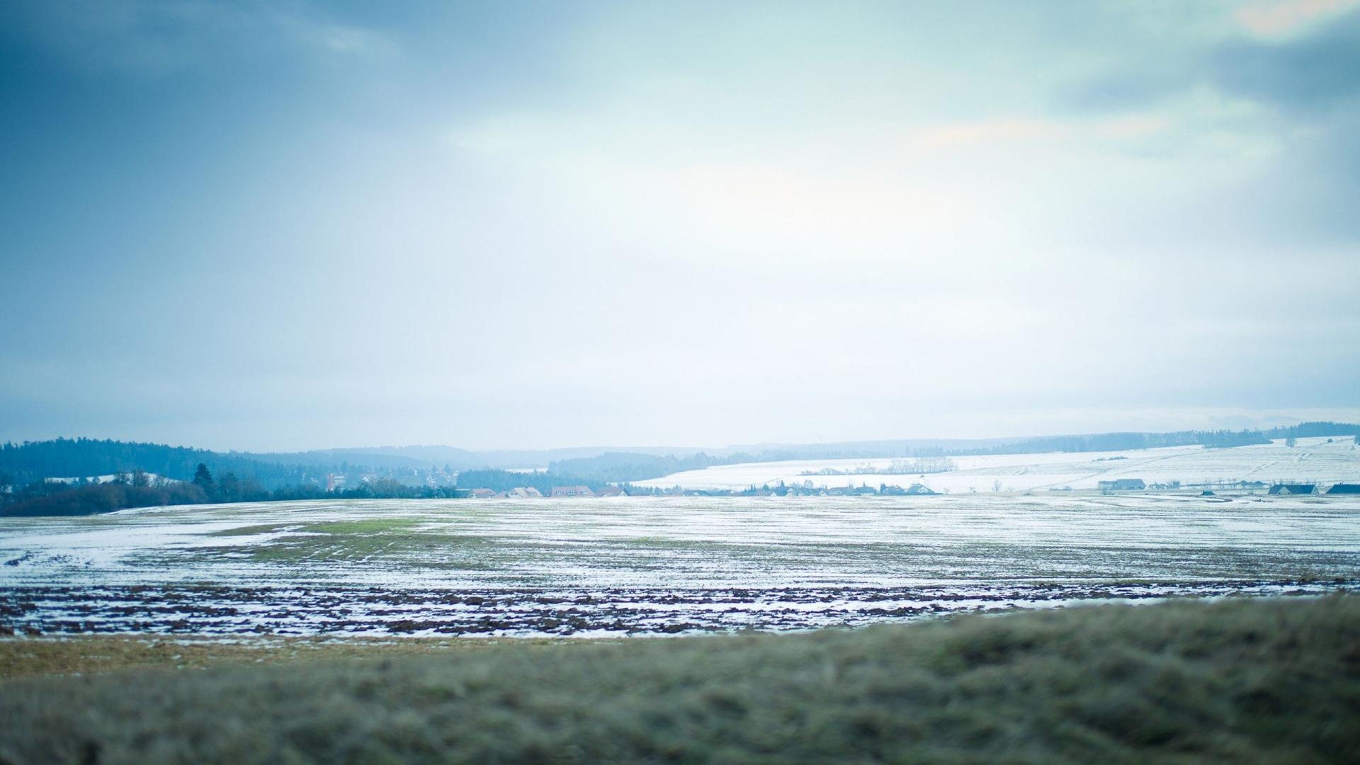 Wallpaper 1920x1080 snow golf winter sky mist Full HD 1080p HD 1920x1080