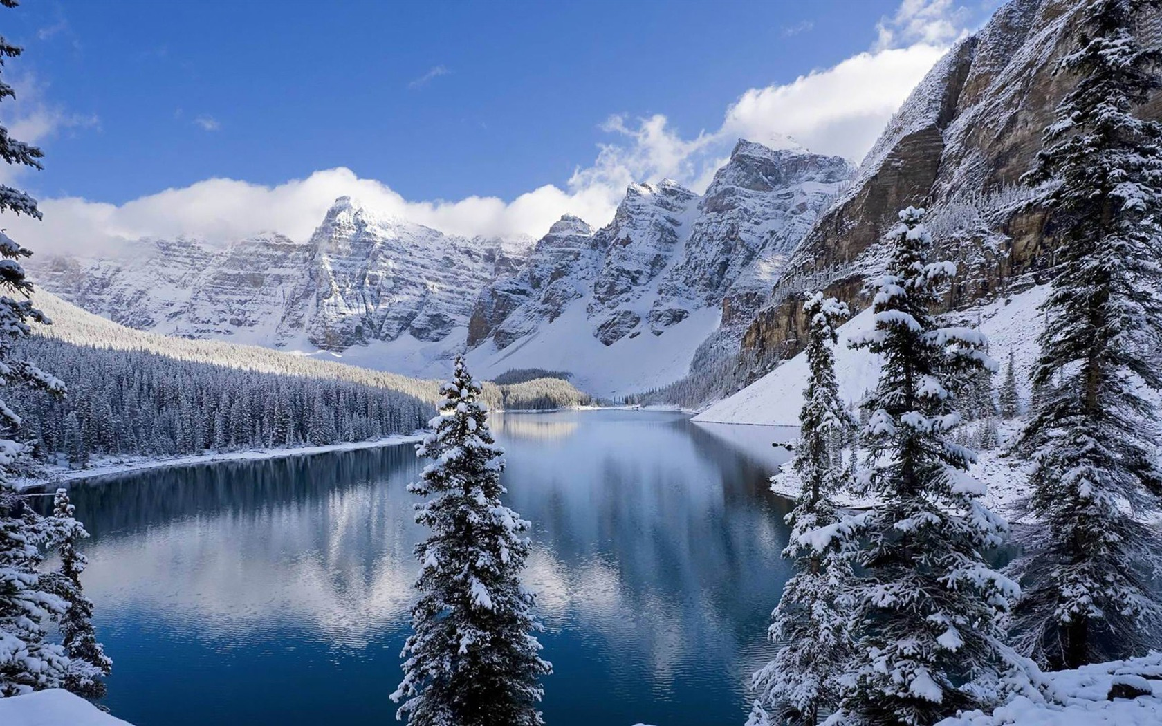 Banff National Park Wallpaper banff national park winter 1680x1050