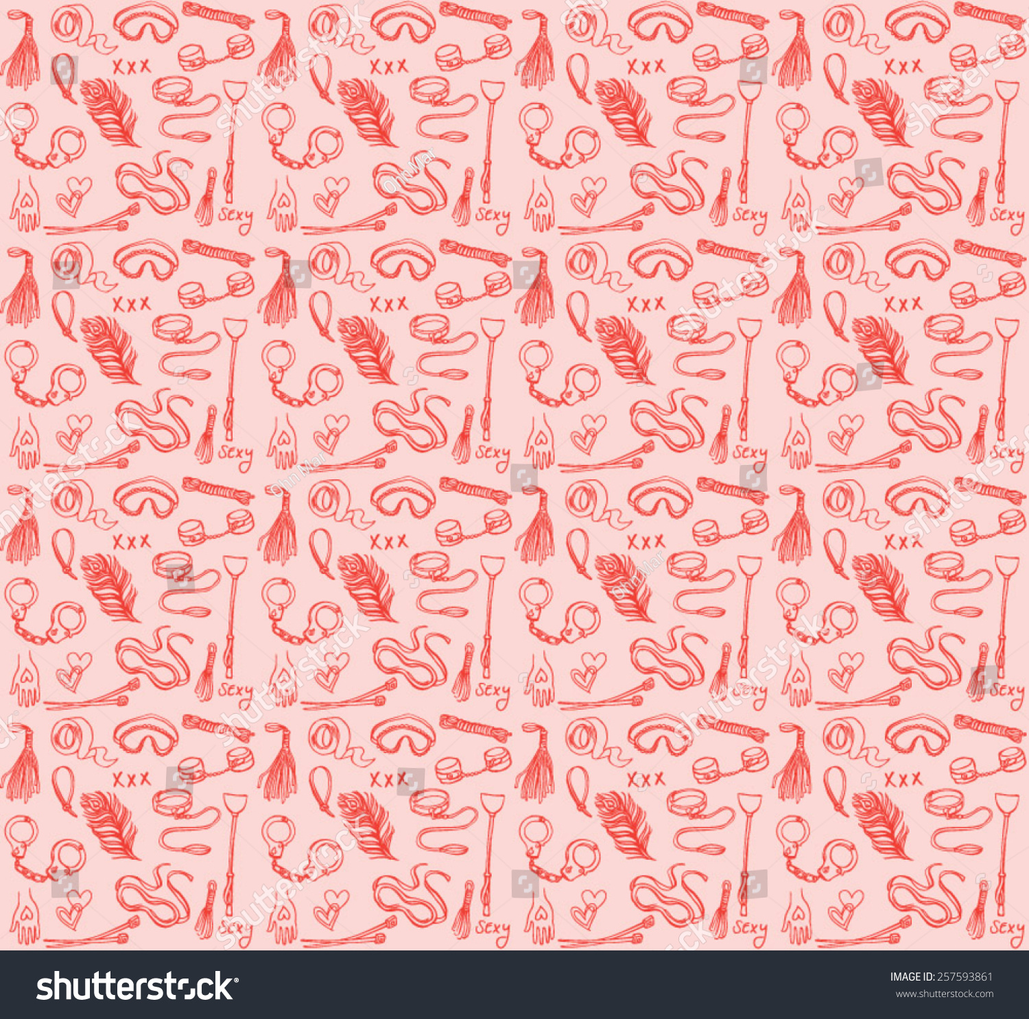 Bondage Submission Domination Seamless Background Stock Vector 1500x1486