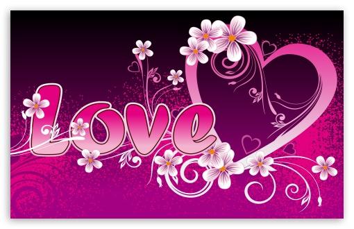 Pink Love HD wallpaper for Wide 1610 53 Widescreen WHXGA WQXGA WUXGA 510x330