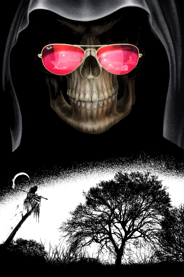 Wallpaper for iPhone Grim Reaper 640x960