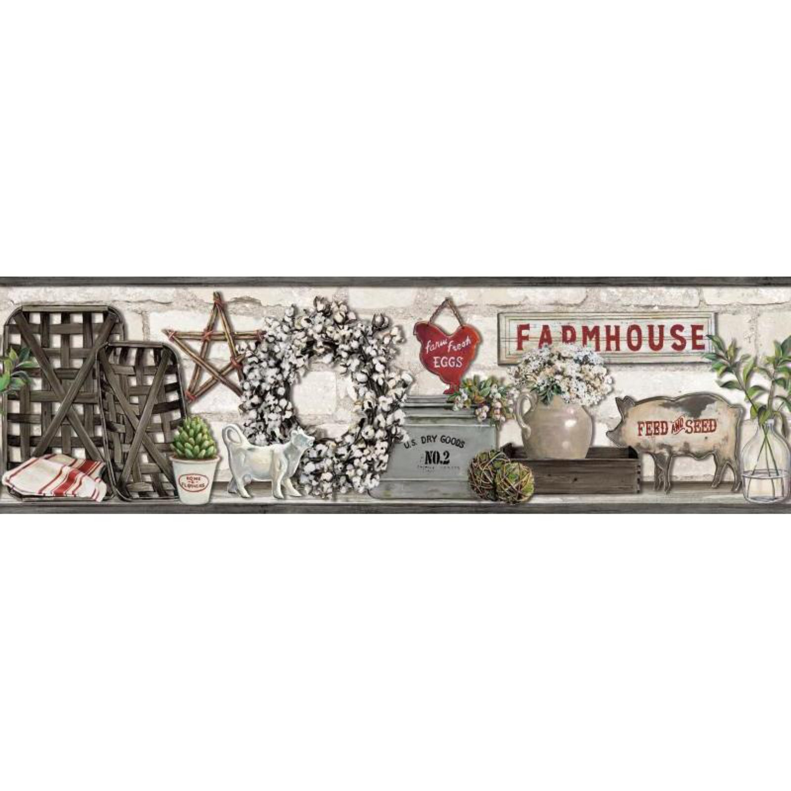 Farmhouse Shelf Wallpaper Border   Walmartcom 1600x1600