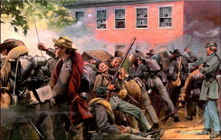 American Civil War Paintings Art Prints Gallery Pictures Artworks 865x549