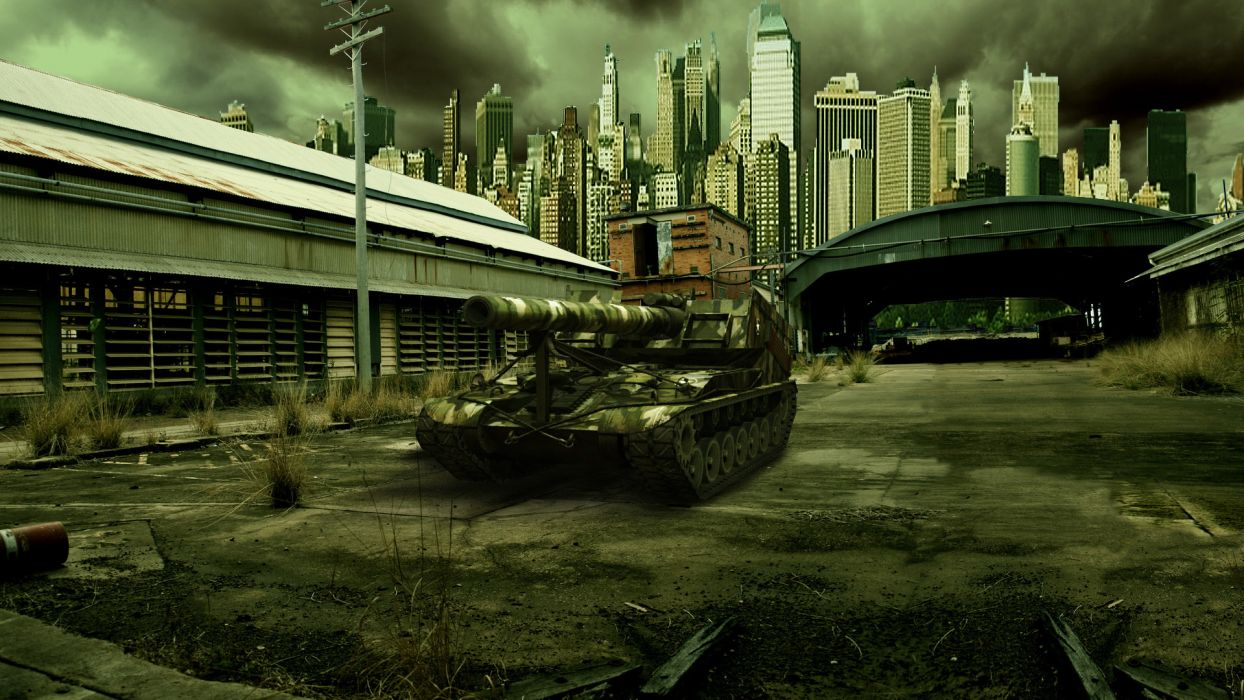 World of Tanks SPG T92 Games Cities military wallpaper 1920x1080 1244x700