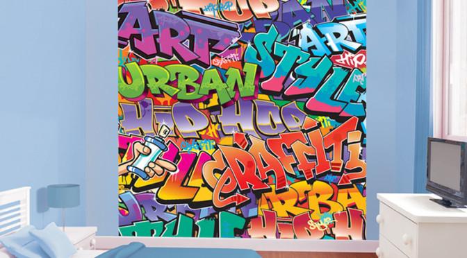Walltastic Graffiti Wallpaper Mural 672x372