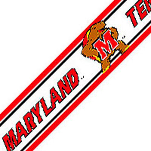 NCAA Maryland Terrapins Prepasted Wallpaper Border Roll modern decals 500x500