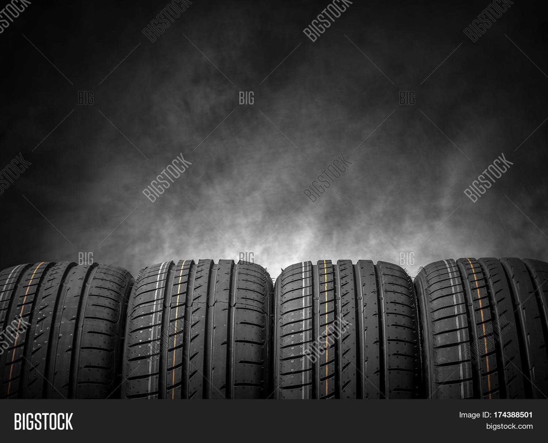 Car Tires On Dark Image Photo Trial Bigstock 1500x1213