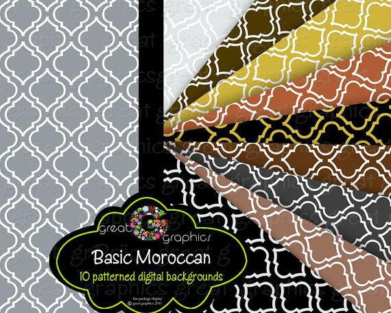 Moroccan Digital Paper Moroccan Paper Moroccan by GreatGraphics 570x456