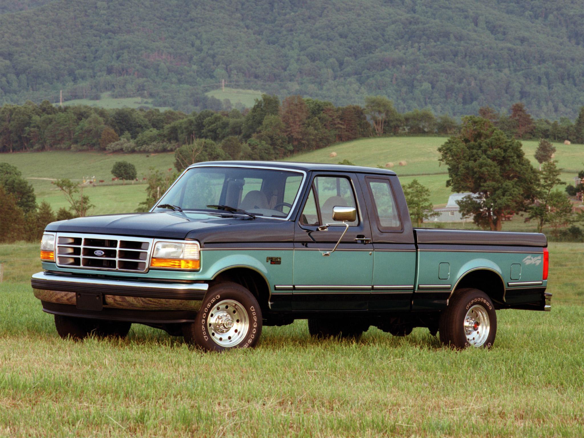 1992 Ford F 150 XLT 4x4 pickup wallpaper background 2048x1536