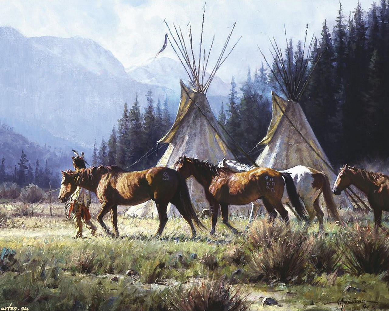 native american Wallpaper Background 13759 1280x1024