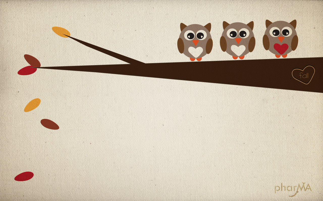 Cute Fall Owl Wallpaper The PharMA Blog 1280x800