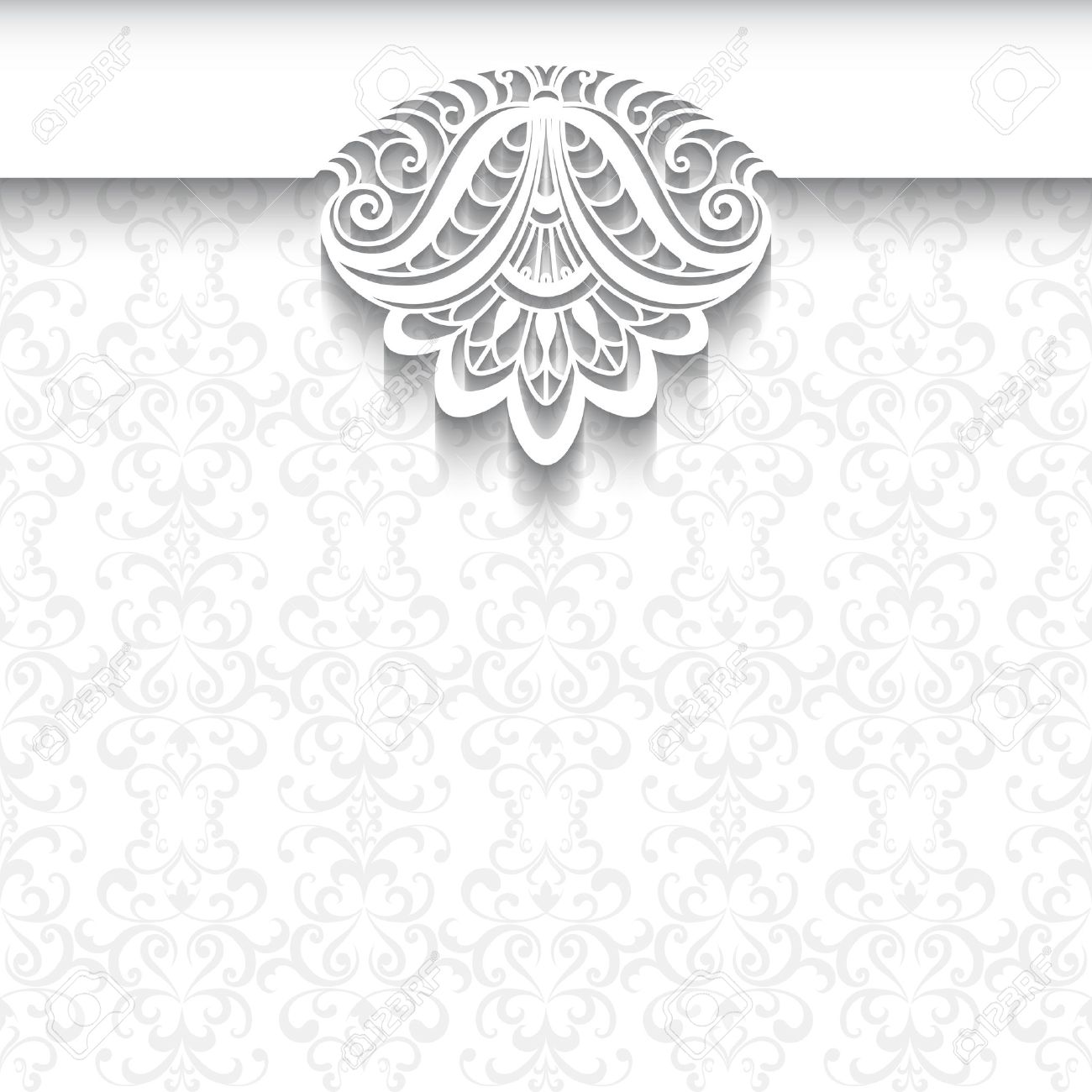 Decorative Background In Neutral Color Elegant Greeting Card 1300x1300