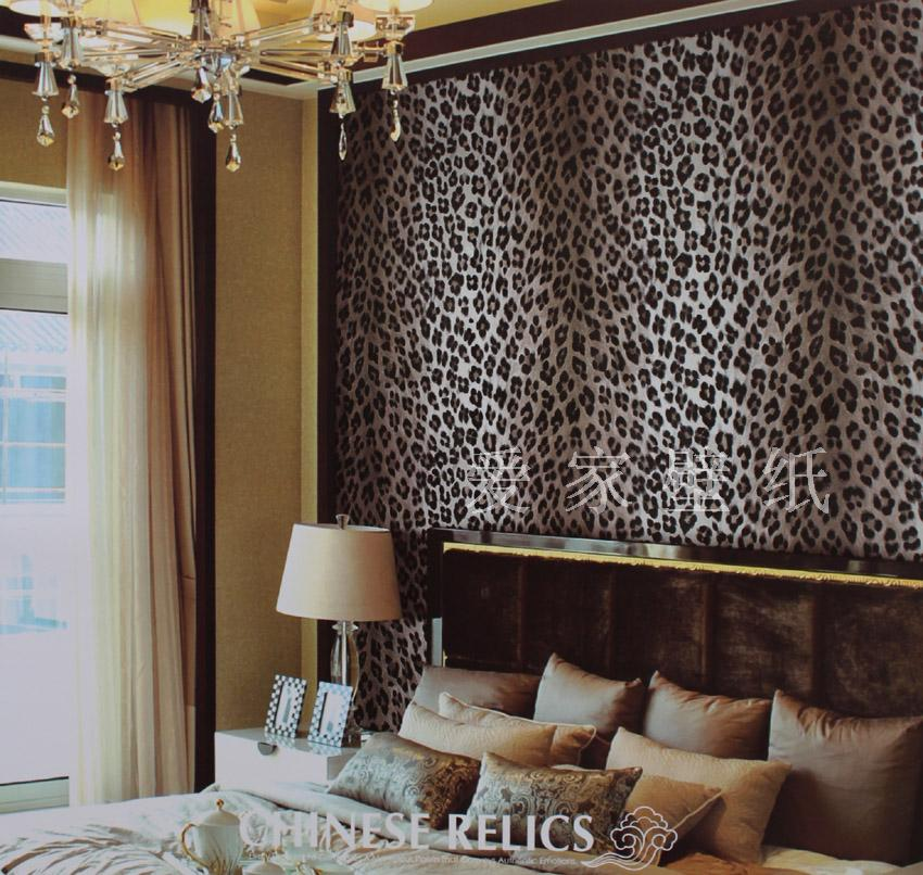 Leopard print wallpaper for bedroom Devine Interiors 850x806