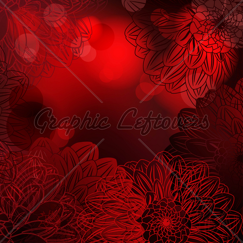 Deep Red Background With Stylized Dahlias GL Stock Images 500x500