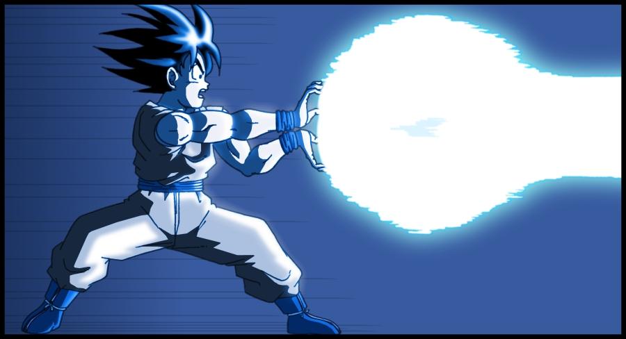 Goku KameHameHa by DBZwarrior 900x488