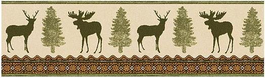 moose wallpaper border 524x156