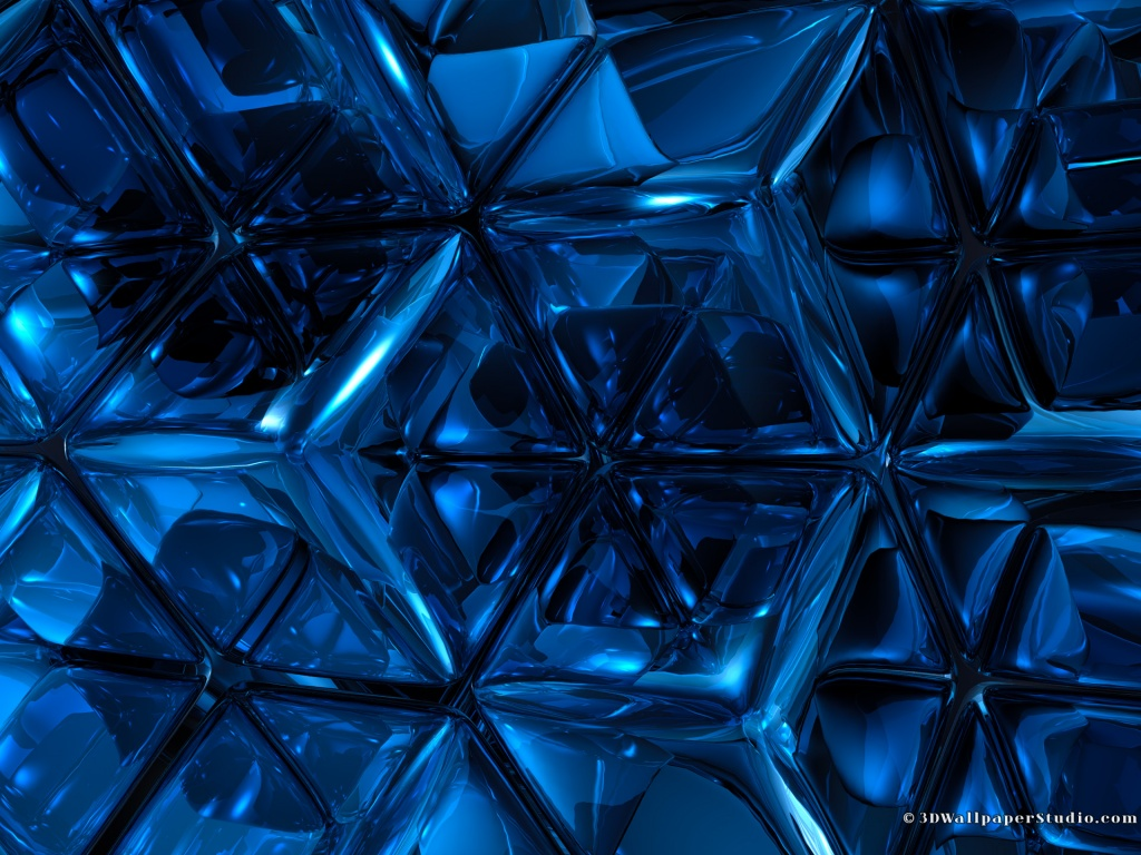 Abstract Design 3d Desktop Hd Wallpaper: Blue Abstract Wallpaper HD