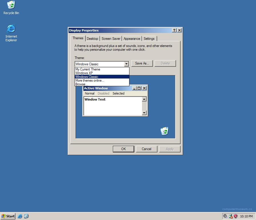 Classic Windows Xp Wallpaper Windows classic in windows xp 896x768