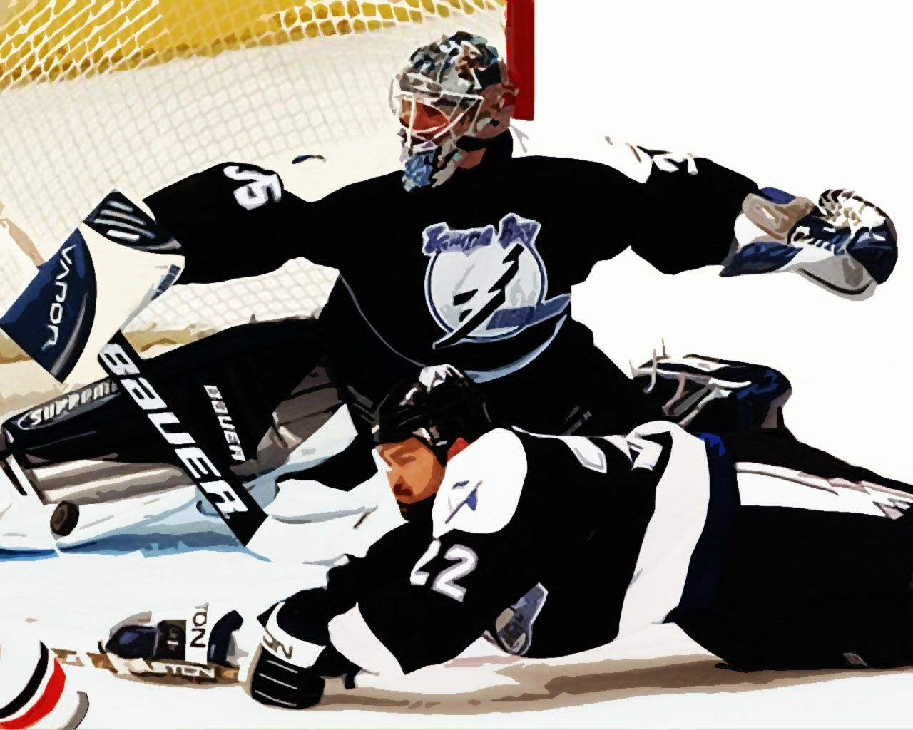 2004 Flyers Vs Lightning   Sports Wallpaper Image featuring Ice Hockey 1280x1024