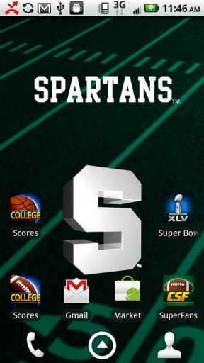 Sweet 16 Officially licensed Michigan State Spartans Live Wallpaper 288x512
