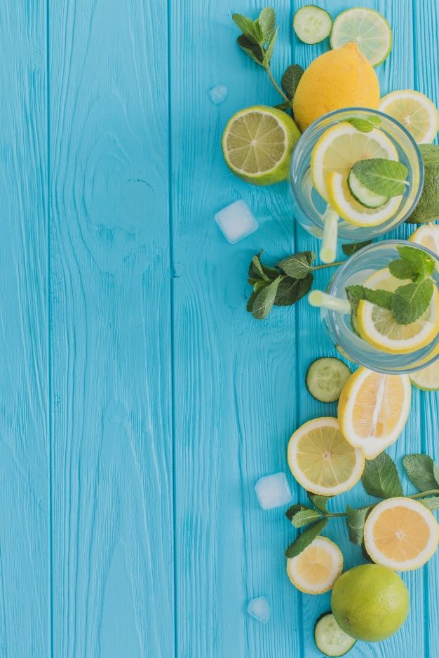 Download Summer Composition With Drinks And Fresh Ingredients for 626x939