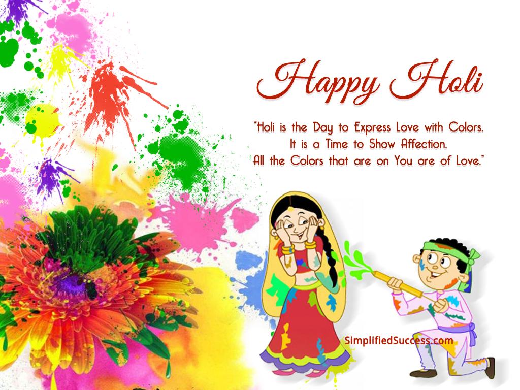 Wishing A Very Happy Holi Holi Wallpapers SMSs Greetings 1024x768