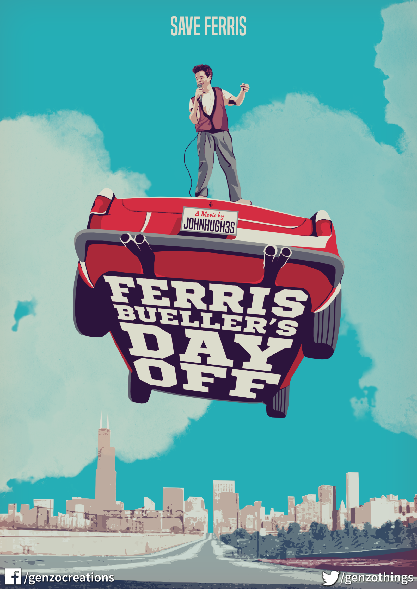 Ferris Buellers Day Off gifts for all Movie posters Indie 1600x2263