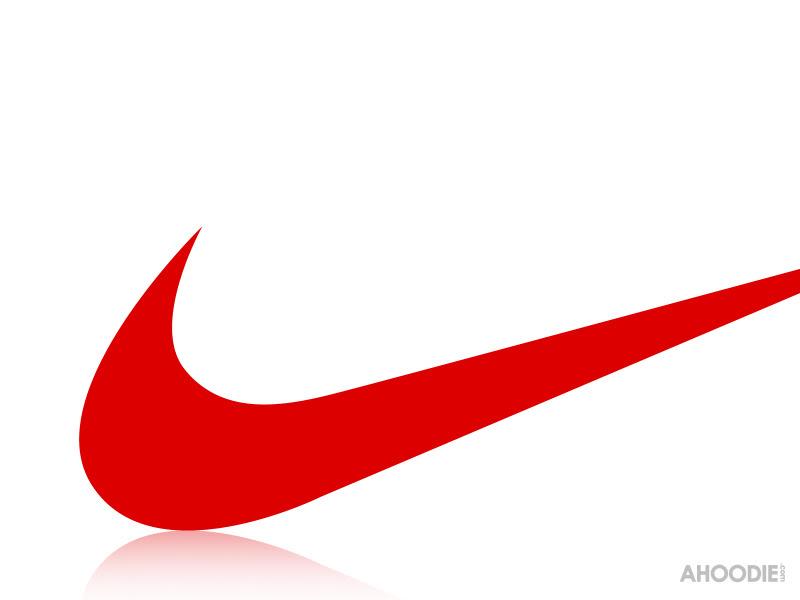 Red Nike Swoosh A nike swoosh lights up the 800x600