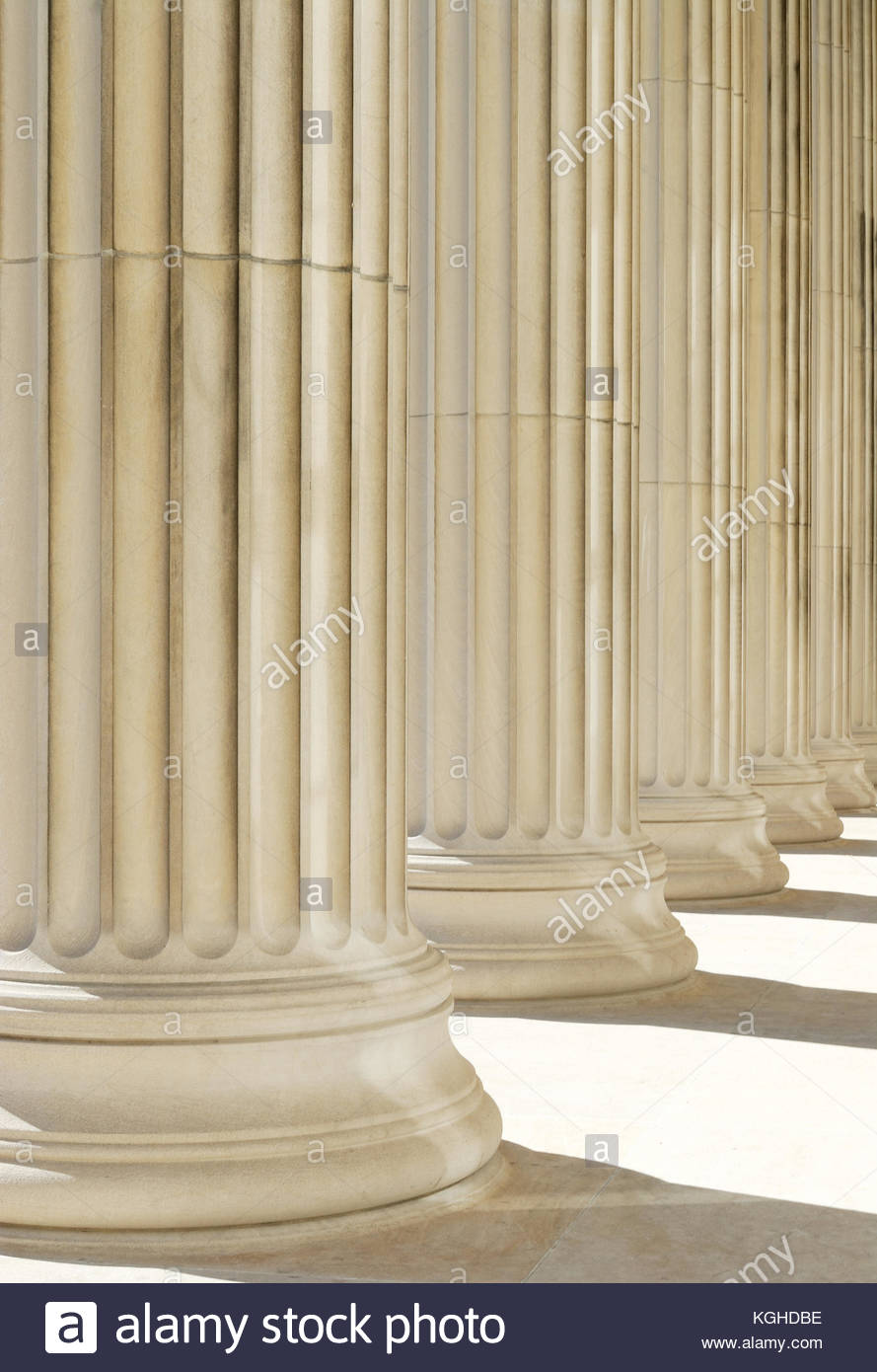 Strong foundation Classic columns background Stock Photo 889x1390