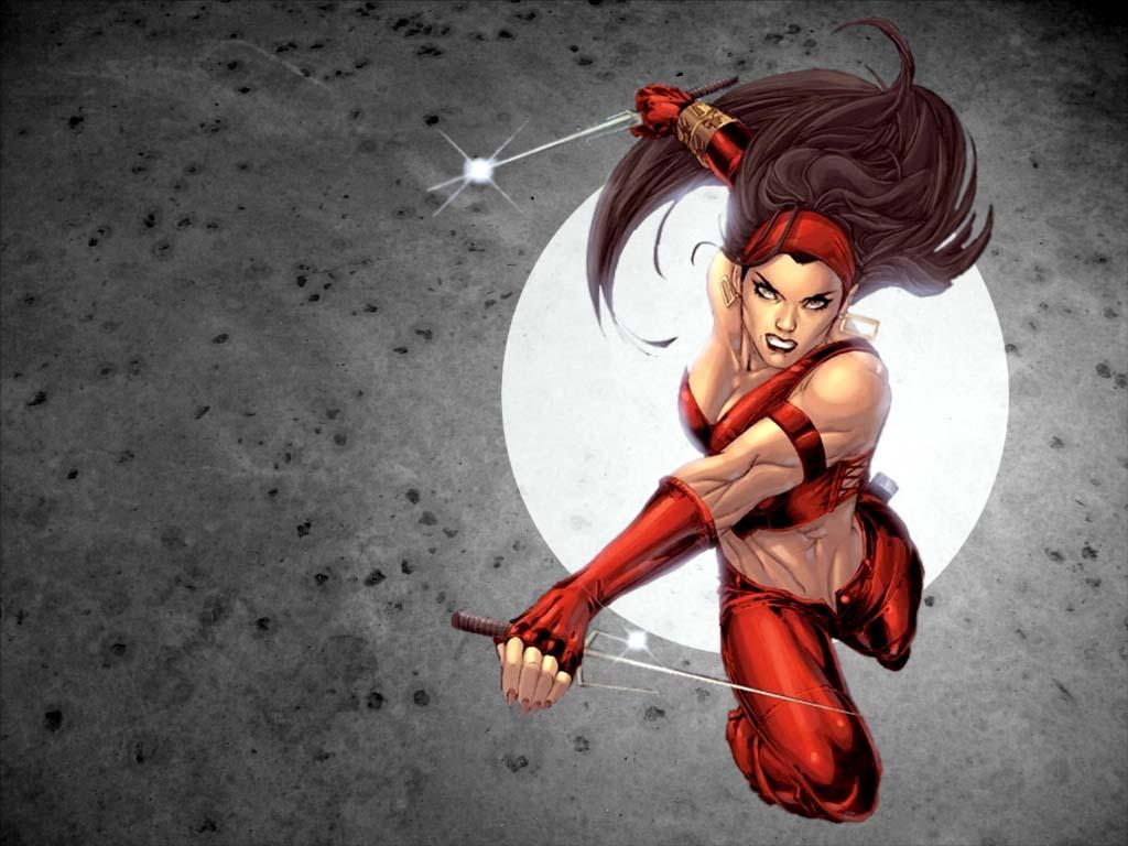 Elektra Comics Marvel Wallpaper 1024x768