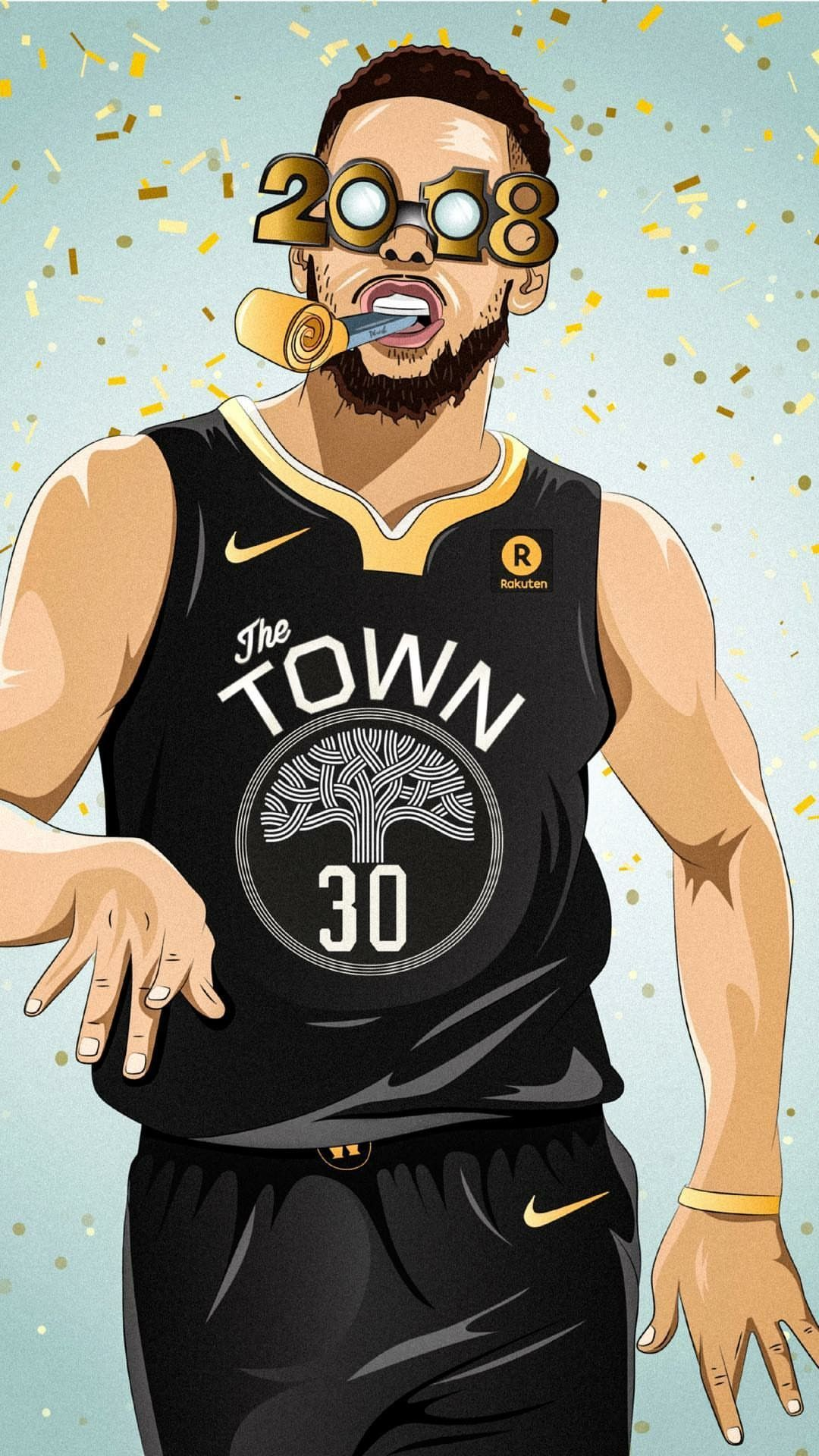 Stephen Curry 2018 New Year Wallpaper BASKETBALL Stephen curry 1080x1920