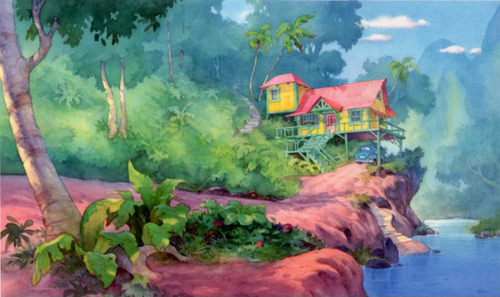 Lilo and Stitch background art 500x297