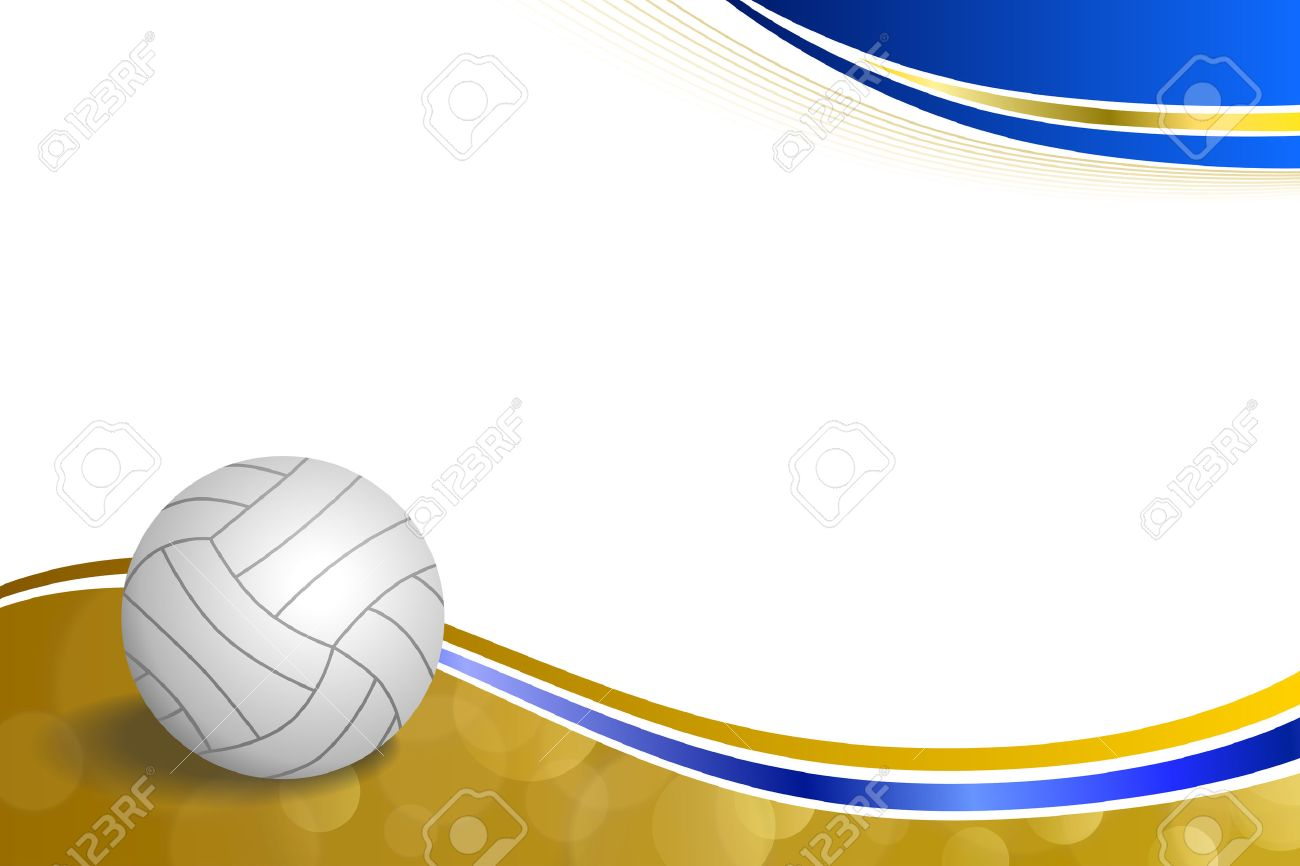 Background Abstract Sport Volleyball Blue Yellow Ball Frame 1300x866