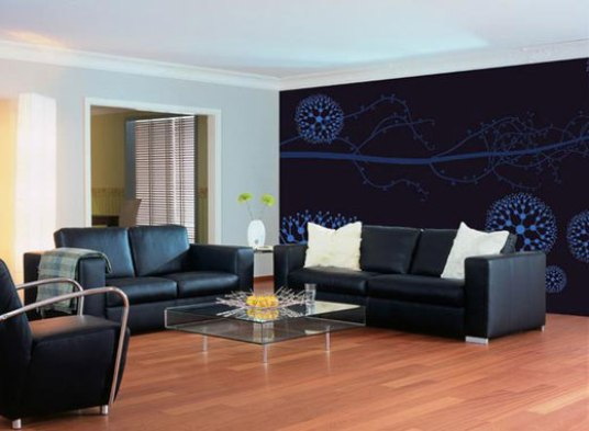modern wall paper decoration ideas Home Design Interior Decorating 536x393