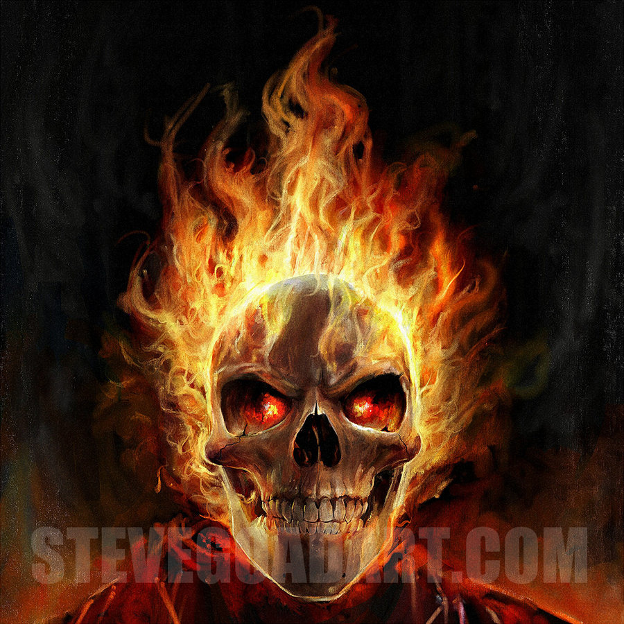 Flaming Skull Wallpaper Flaming skull by stevegoad 900x900