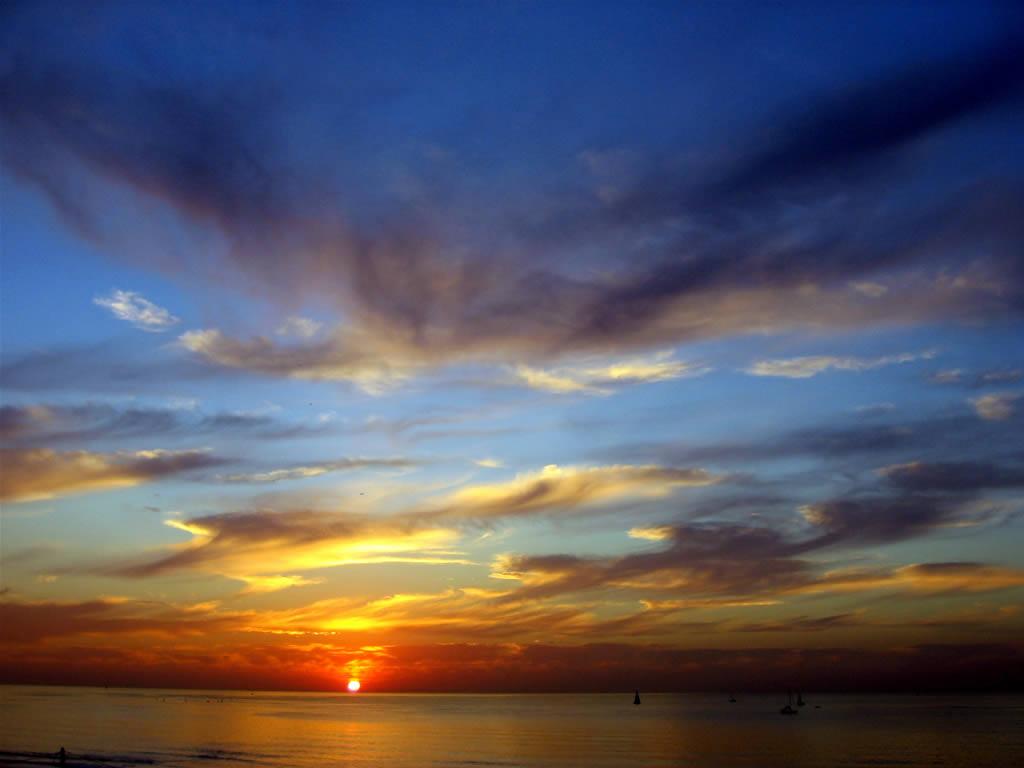 Tropical Sunset Wallpaper style4world Coffs Jetty Boambee Creek 1024x768