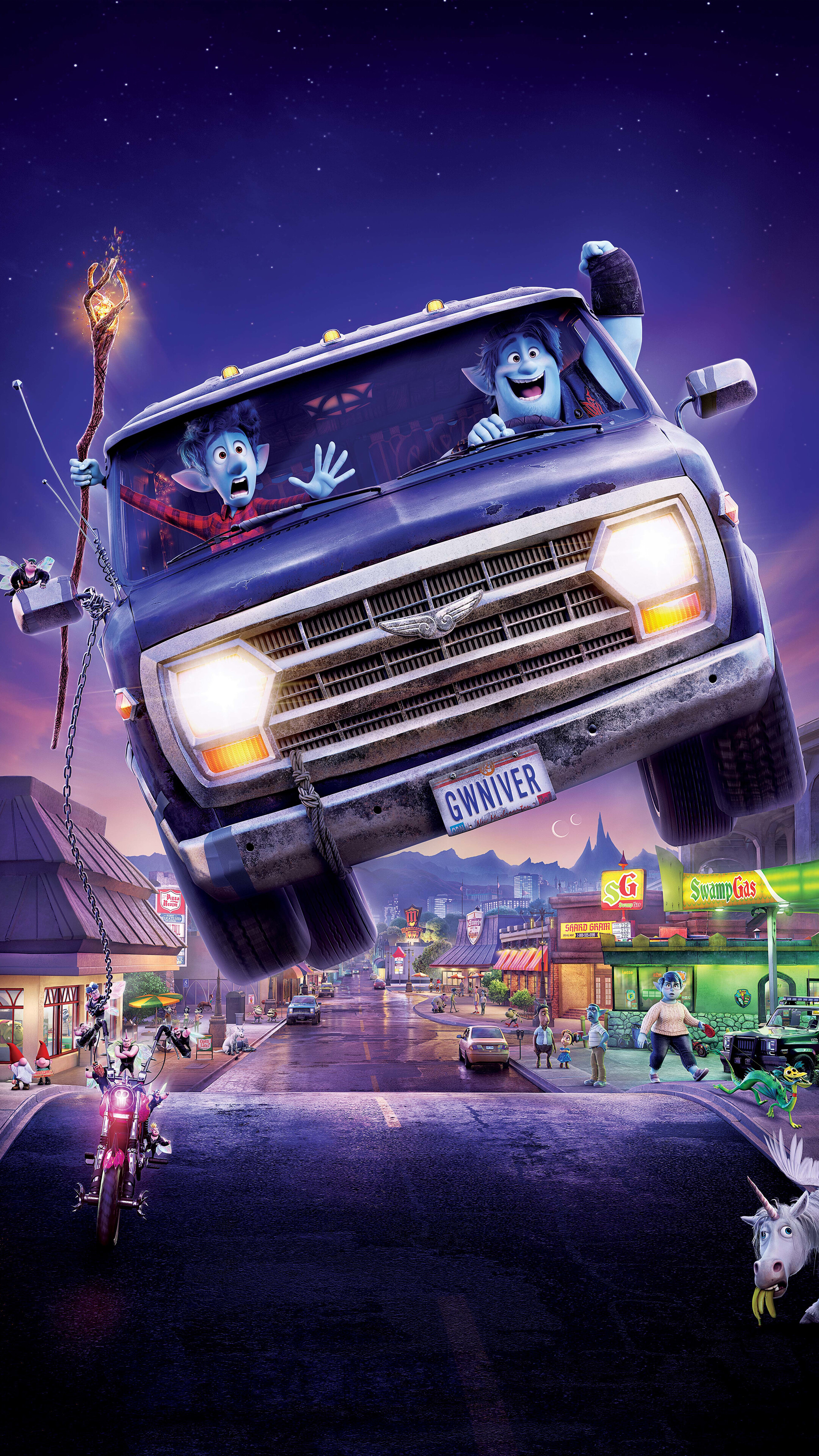 Onward Pixar Movie Poster 2020 Ian Barley 8K Wallpaper 51859 2160x3840