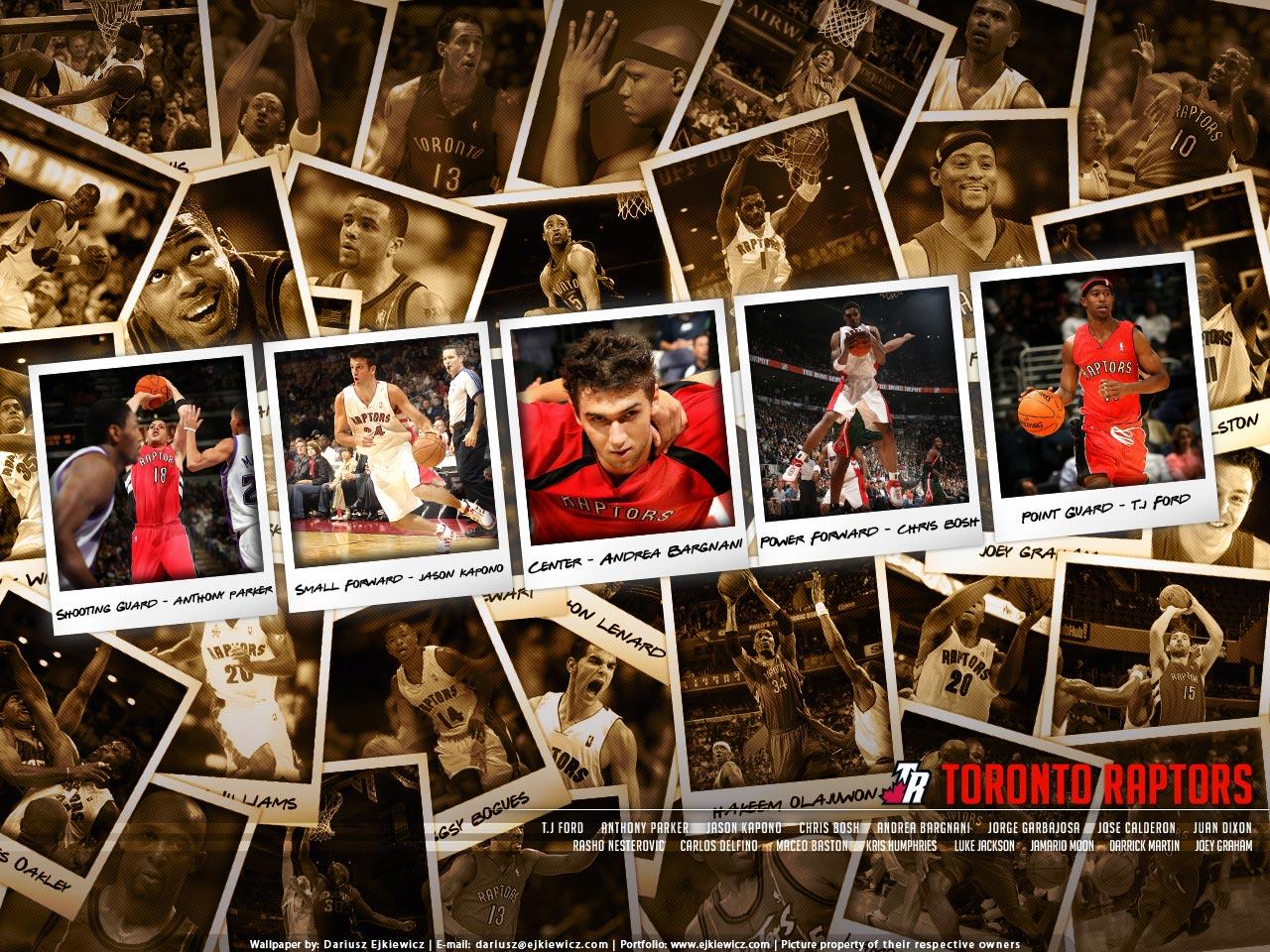 Toronto Raptors Polaroid Wallpaper Basketball Wallpapers at 1280x960